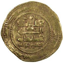 GHAZNAVID: Ibrahim, 1059-1099, AV dinar (4.21g), Ghazna, AH455. VF