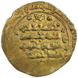 GHAZNAVID: Ibrahim, 1059-1099, AV dinar (3.42g) (Ghazna), AH(480). EF