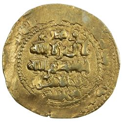 GHAZNAVID: Ibrahim, 1059-1099, AV dinar (5.66g), Ghazna, AH(4)91. EF