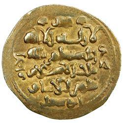 GHAZNAVID: Mas'ud III, 1099-1115, AV dinar (4.12g) (Ghazna), AH(492). EF