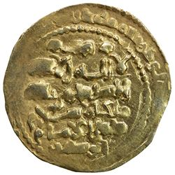 GHAZNAVID: Mas'ud III, 1099-1115, AV dinar (4.08g) (Ghazna), AH(492). EF