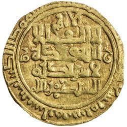 GREAT SELJUQ: Sanjar, 1099-1118, AV dinar (3.64g), Nishapur, AH489. VF