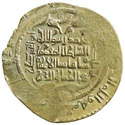 GREAT SELJUQ: Sanjar, 1118-1157, AV dinar, pale gold (3.32g), Balkh, AH(52)2. EF