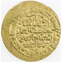 KHWARIZMSHAH: Muhammad, 1200-1220, AV dinar (4.00g). VF
