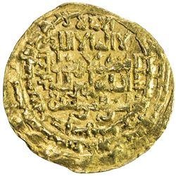 ZANGIDS OF AL-MAWSIL: Mas'ud II, 1211-1218, AV dinar (4.78g), al-Mawsil, AH611. VF