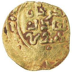 GREAT MONGOLS: Chingiz Khan, 1206-1227, AV dinar (3.14g) (Bukhara), ND. VF