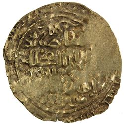GREAT MONGOLS: temp. Chingiz Khan, 1206-1227, AV dinar (3.12g), NM, AH(6)18. VF