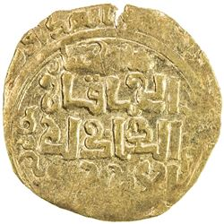 GREAT MONGOLS: Anonymous, ca. 1220s-1230s, AV dinar (2.87g), Badakhshan, ND/DM. EF