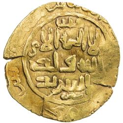 GREAT MONGOLS: Anonymous, ca. 1220s-1230s, AV dinar (3.84g), Astarabad, ND/DM. VF