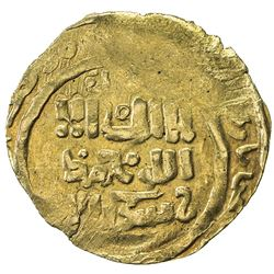 GREAT MONGOLS: Anonymous, ca. 1220-1250, AV dinar (2.65g), NM, ND. VF-EF