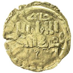GREAT MONGOLS: Anonymous, ca. 1220-1250, AV dinar (2.01g), Khujanda, ND. EF