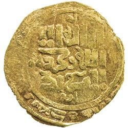 GREAT MONGOLS: Anonymous, ca. 1220s-1240s, AV dinar (3.25g), Bukhara, ND. VF