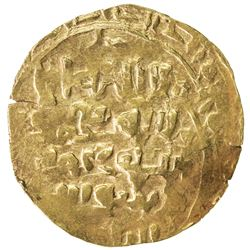 GREAT MONGOLS: Anonymous, ca. 1220s-1240s, AV dinar (3.69g), NM, ND. F