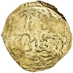 GREAT MONGOLS: Mongke, 1251-1260, AV broad dinar (2.36g), NM, ND. EF