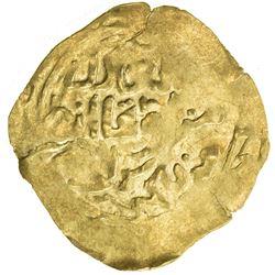 GREAT MONGOLS: Mongke, 1251-1260, AV broad dinar (3.74g), NM, Dhu'l-Hijja AH[65]1. EF