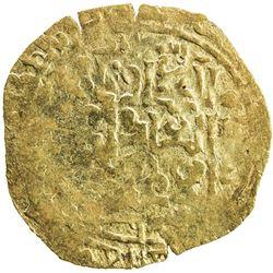 GREAT MONGOLS: Mongke, 1251-1260, AV broad dinar (3.77g), Astarabad, ND. EF