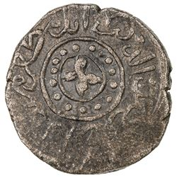 GREAT MONGOLS: Shams al-Din (al-Mandal?), date unknown, AE jital (2.79g), ND. VF