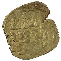 GREAT MONGOLS: Anonymous, ca. 1220s-1240s, AV dinar (3.12g) (Samarqa)nd, ND. VF