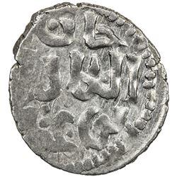 KHANATE OF SAQCHI: Noghay, d. 1300, AR dirham (1.42g), Saqchi (Isaccea in Romania), ND. VF