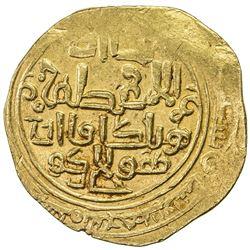 ILKHAN: Hulagu, 1256-1265, AV dinar (8.53g), Baghdad, AH657. VF