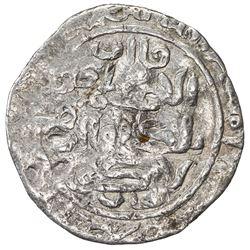 ILKHAN: Hulagu, 1256-1265, AR 1/2 dirham (1.34g) (Baghdad), AH656. VG