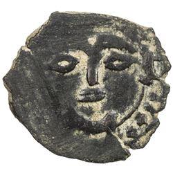ILKHAN: Hulagu, 1256-1265, AE fals (1.37g), NM [Hamah], ND. VF