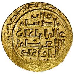 ILKHAN: Abaqa, 1265-1282, AV dinar (8.27g), Isfahan, AH6xx. EF