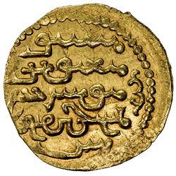 ILKHAN: Abaqa, 1265-1282, AV dinar (4.67g) (Tabriz), AH67x. EF