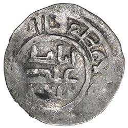 ILKHAN: Abaqa, 1265-1282, AR dirham (2.33g), NM, blundered date. VF