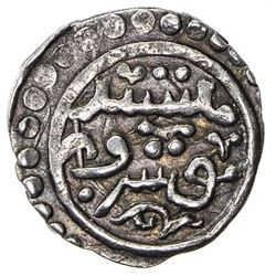 ILKHAN: Abaqa, 1265-1282, AR 1/4 dirham (0.68g), Nishapur, DM. VF
