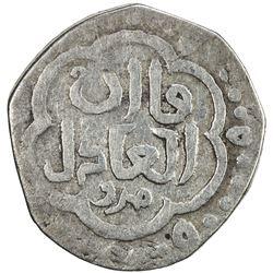 ILKHAN: Anonymous Qa'an al-'Adil, AR 1/2 dirham (1.35g), Marw, ND. F