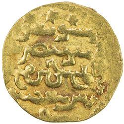 ILKHAN: Ahmad Tekudar, 1282-1284, AV dinar (4.09g), Tabriz, DM. VF
