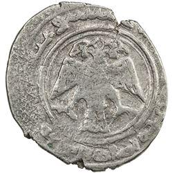 ILKHAN: Arghun, 1284-1291, AR dirham (2.24g), Nishapur, AH6xx. VF
