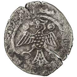 ILKHAN: Arghun, 1284-1291, AR dirham (2.12g) (Nishapur), DM. VF