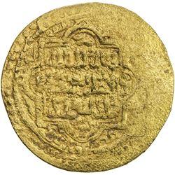 ILKHAN: Abu Sa'id, 1316-1335, AV dinar (8.83g), Qays, AH720. VF