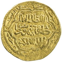 ILKHAN: Taghay Timur, 1336-1353, AV dinar (4.22g), Amul, AH752 (sic). VF-EF