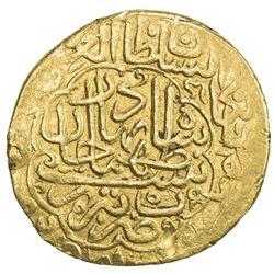 SAFAVID: Tahmasp I, 1524-1576, AV heavy ashrafi (3.89g), Tabriz, ND. VF