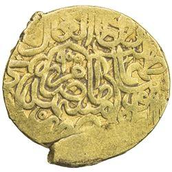SAFAVID: Tahmasp I, 1524-1576, AV 1/2 mithqal (2.33g), Mashhad, AH955. VF
