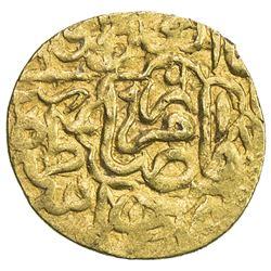 SAFAVID: Tahmasp I, 1524-1576, AV 1/4 mithqal (1.20g), Imam Reza (= Mashhad), AH968. VF