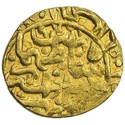 SAFAVID: Tahmasp I, 1524-1576, AV 1/4 mithqal (1.17g), Shiraz, AH971. VF