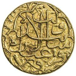SAFAVID: 'Abbas I, 1588-1629, AV mithqal (4.59g), Qazwin, AH99x. VF
