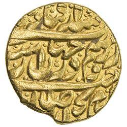 ZAND: Karim Khan, 1753-1779, AV 1/2 mohur (5.43g), Rasht, AH119x. VF-EF