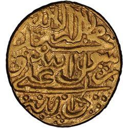 ZAND: Karim Khan, 1753-1779, AV 1/2 mohur (5.45g), Basra, AH1192. PCGS MS63