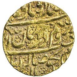ZAND: Karim Khan, 1753-1779, AV 1/4 mohur (2.73g), Kashan, AH1184. VF-EF