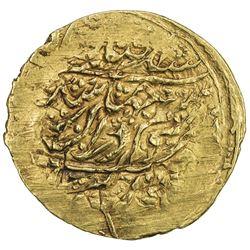 ZAND: Karim Khan, 1753-1779, AV 1/4 mohur (2.70g), Kashan, AH1189. VF-EF