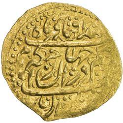 ZAND: Karim Khan, 1753-1779, AV 1/4 mohur (2.74g), Qazwin, DM. VF