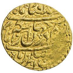 ZAND: Karim Khan, 1753-1779, AV 1/4 mohur (2.73g), Qazwin, DM. VF
