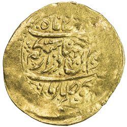ZAND: Karim Khan, 1753-1779, AV 1/4 mohur (2.67g), Rasht, AH1187. VF