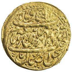 ZAND: Karim Khan, 1753-1779, AV 1/4 mohur (2.71g), Shiraz, AH1178. VF-EF