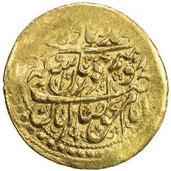 ZAND: Karim Khan, 1753-1779, AV 1/4 mohur (2.72g), Yazd, AH1188. VF-EF